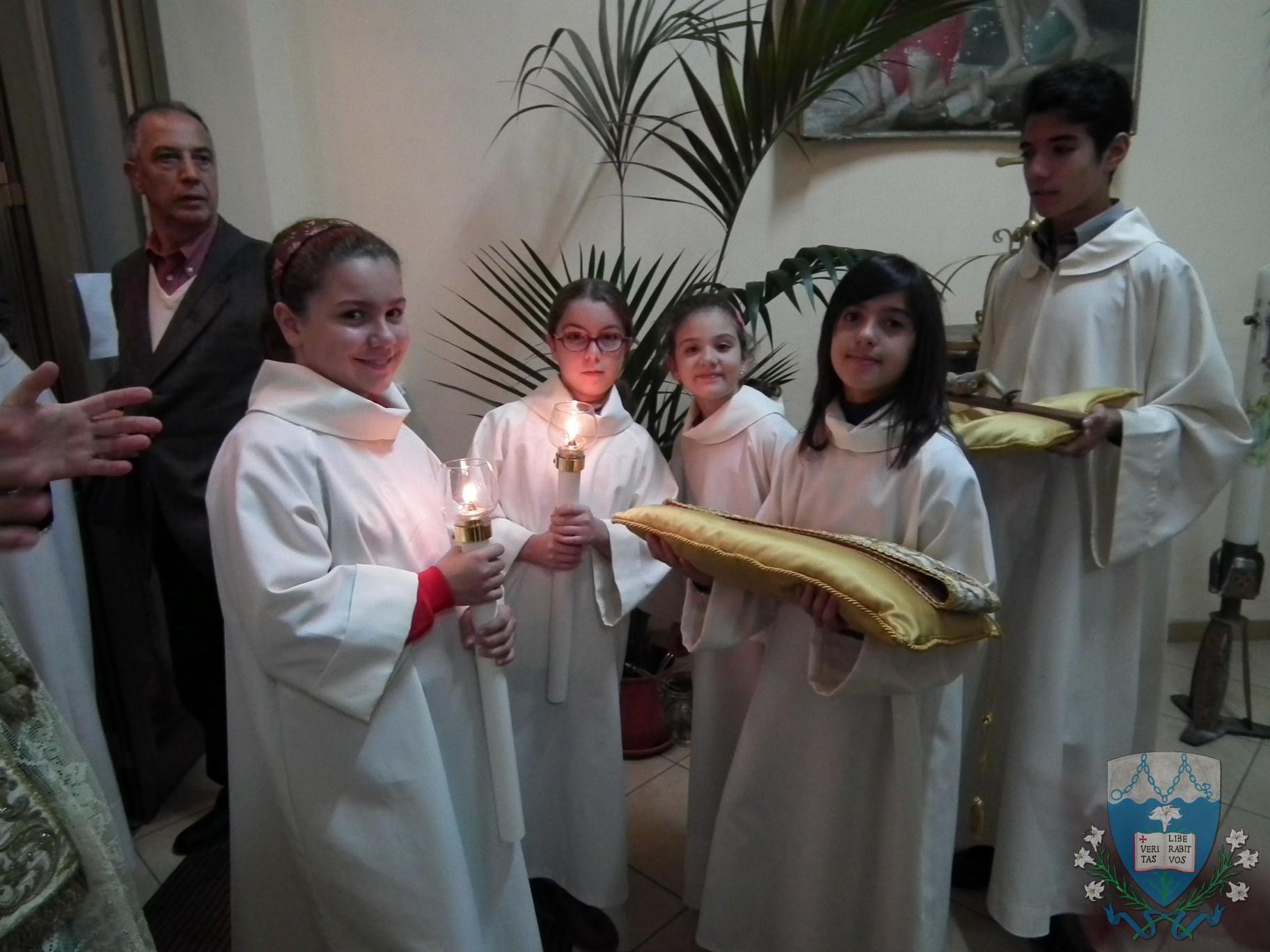 Il gruppo ministranti.