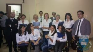 La schola cantorum.